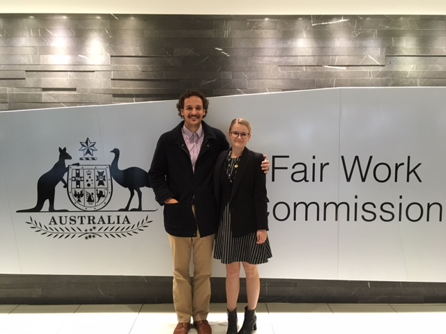 Alexander Baird and Loren Ferrell Fairwork Commission interns 2018