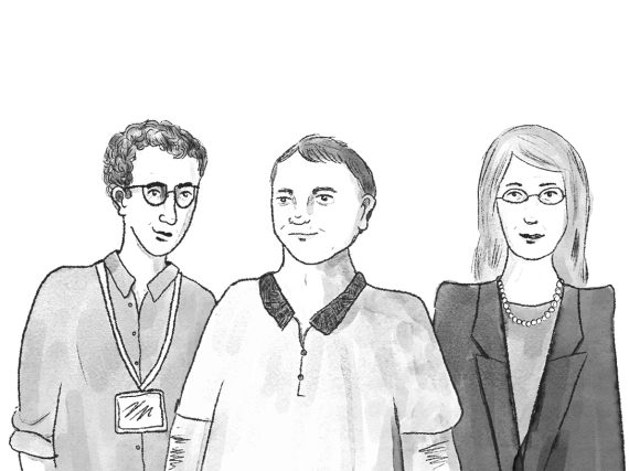 illustration of three people